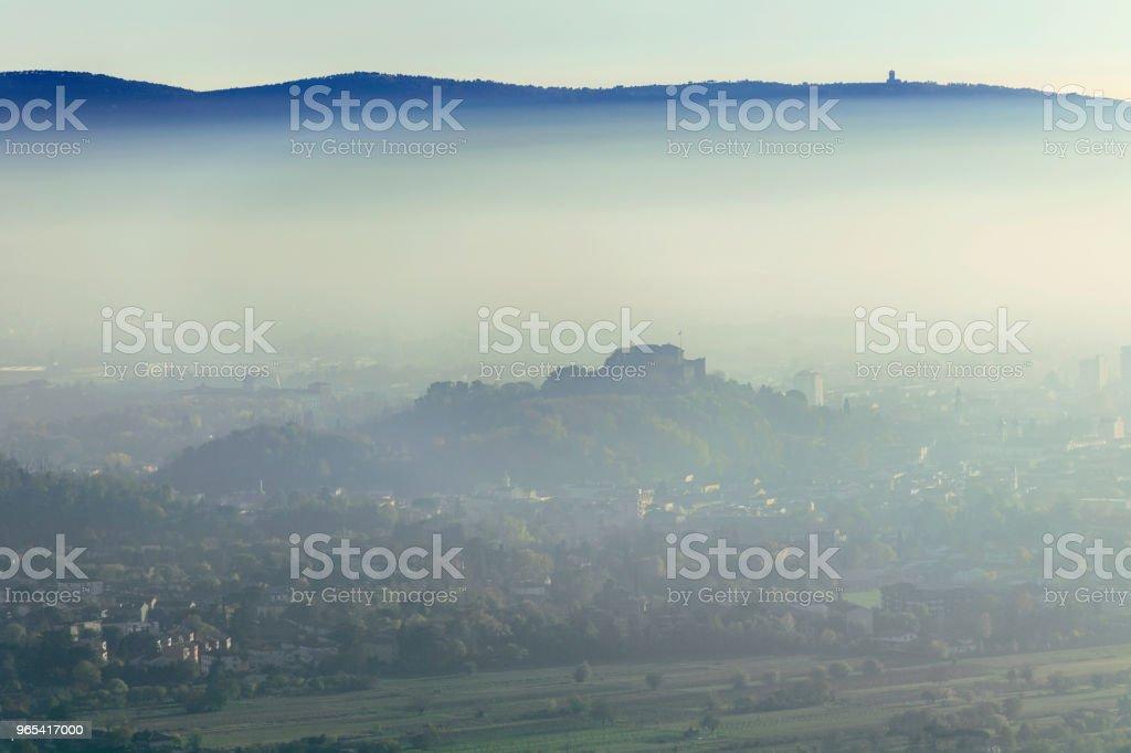 Autumn view of the city of Gorizia, Italy, Europe royalty-free stock photo