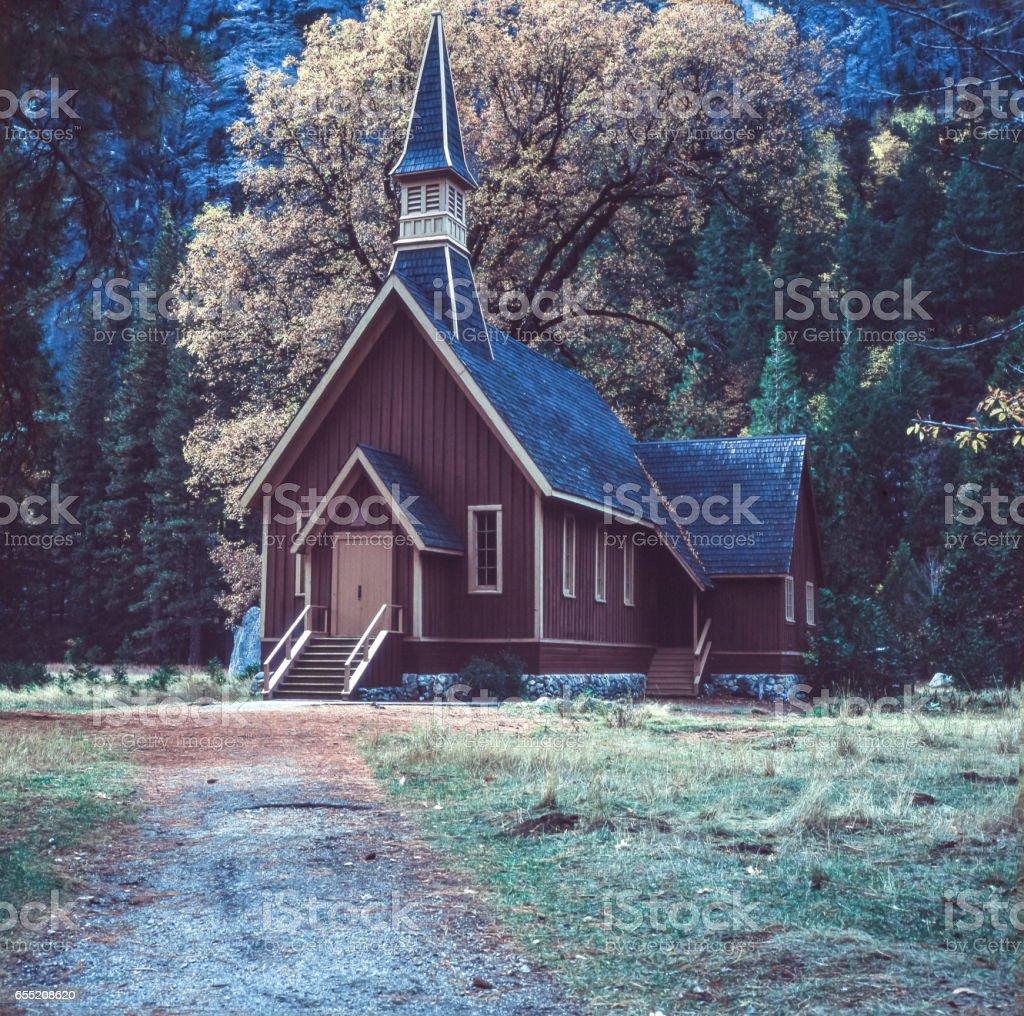 Autumn View of Yosemite Chapel