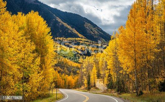 Autumn views near Telluride Colorado Scenic Highway 145 Rocky Mountains