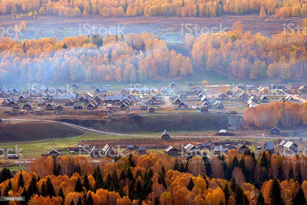 Autumn Village royalty-free stock photo