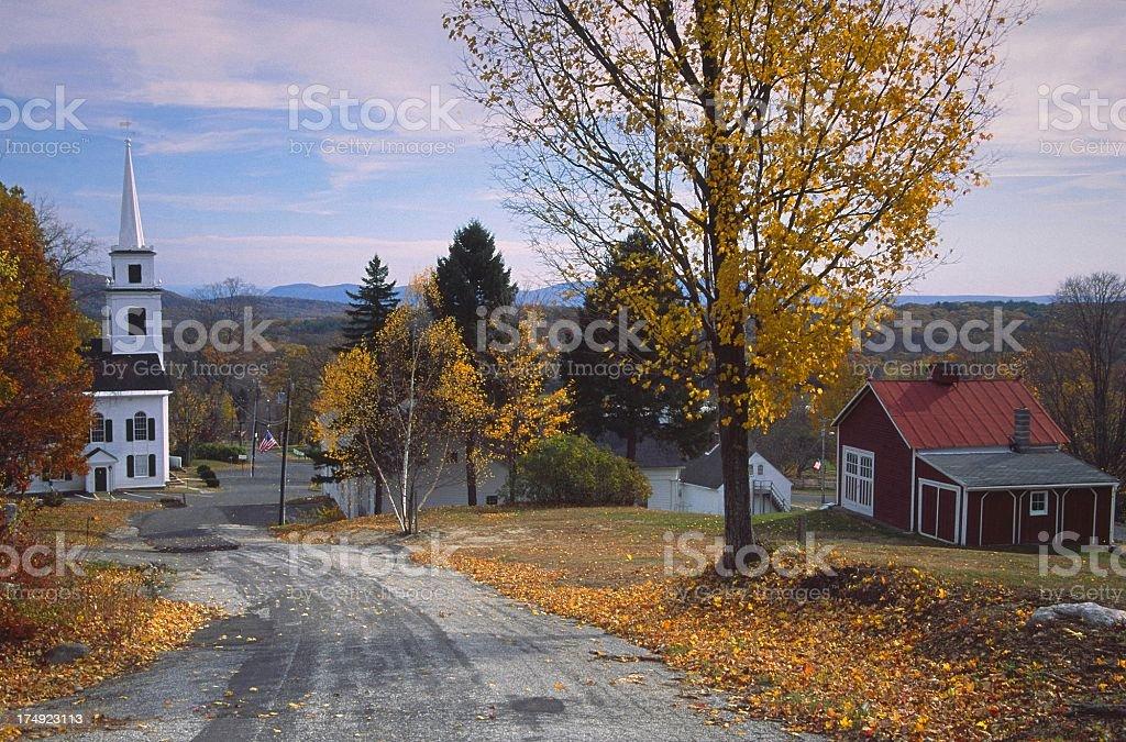 Autumn Village stock photo