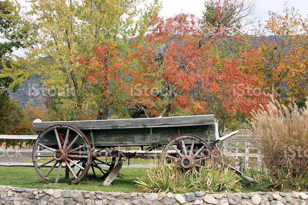 Autumn wagon royalty-free stock photo