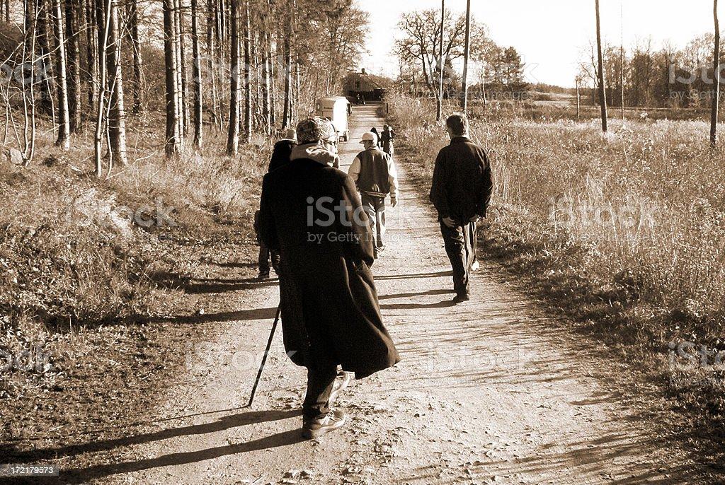 Autumn Walk. royalty-free stock photo