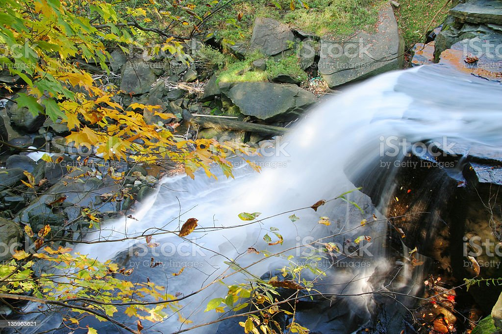 Autumn Water Falls stock photo
