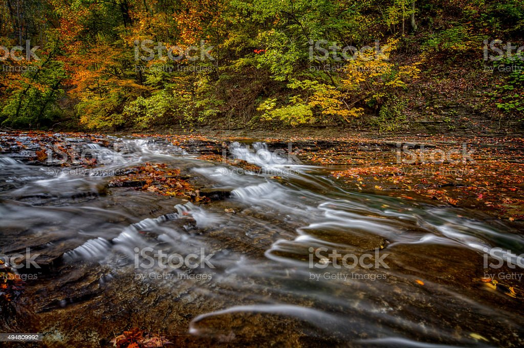 Autumn Waterfall stock photo