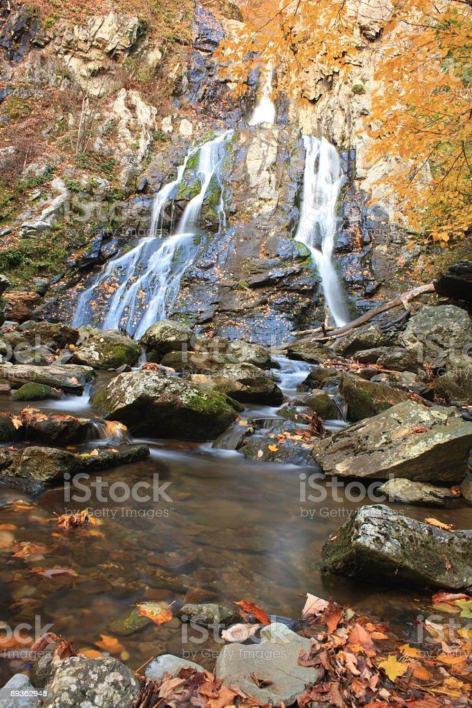 Autumn Waterfall royalty-free stock photo