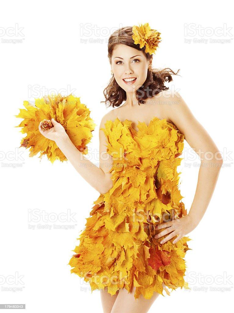 фото с листом клена как платье интересная штука