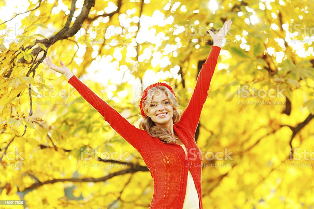 Autumn woman royalty-free stock photo