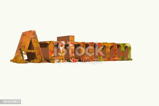 istock Autumn Word 494829820