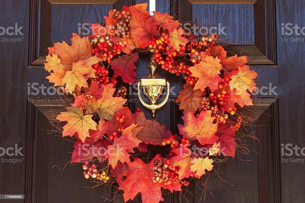 autumn wreath royalty-free stock photo