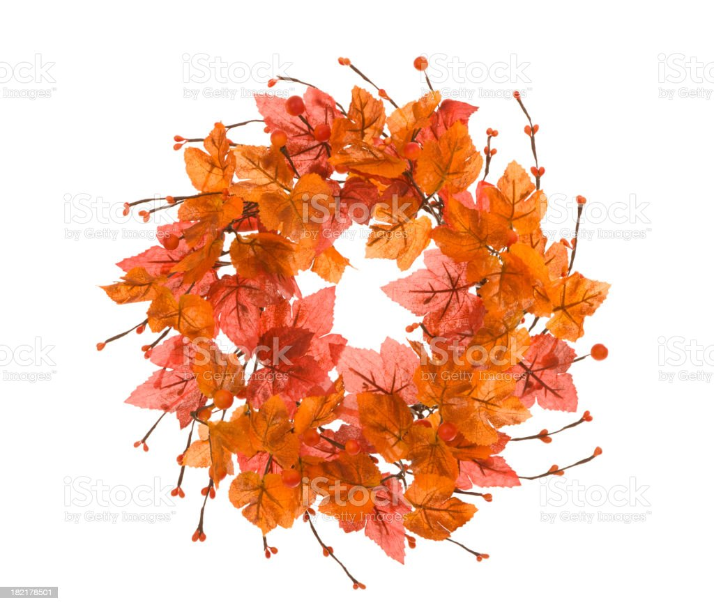 Autumn Wreath royalty-free stock photo