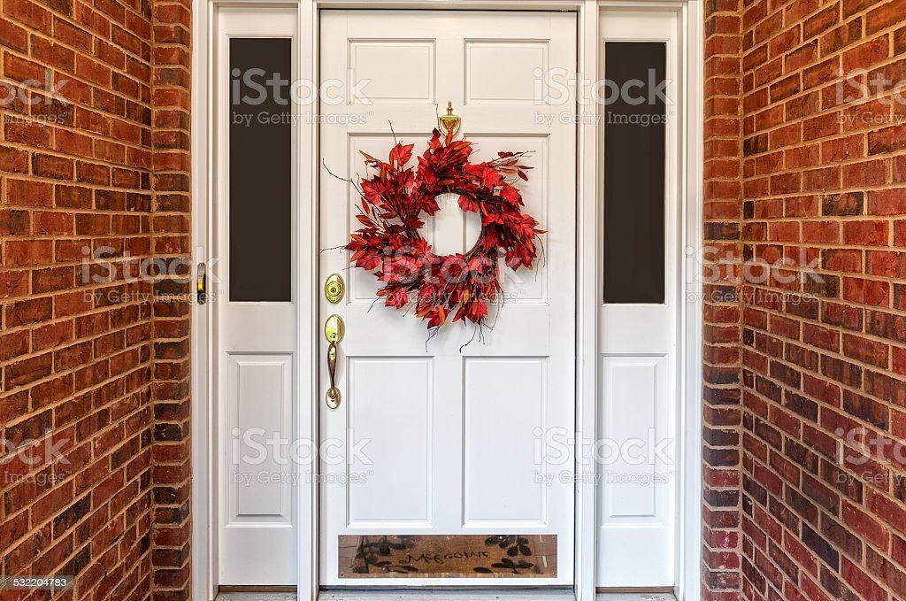 Autumn Wreath stock photo