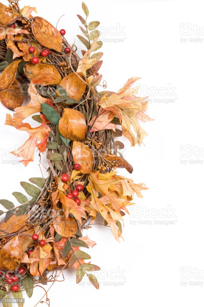 Autumn Wreath Series royalty-free stock photo