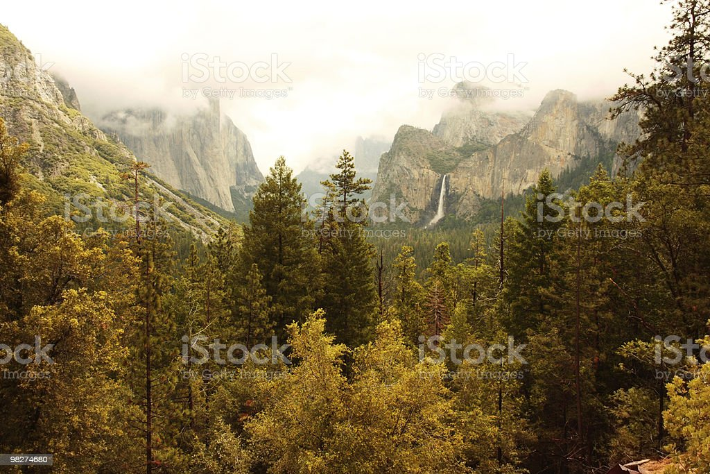 Autumn Yosemite Valley royalty-free stock photo