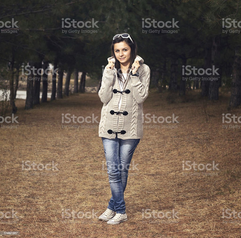 Autumn young girl portrait royalty-free stock photo