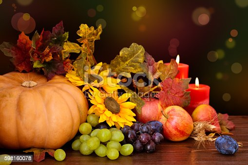 istock Autumnal fruits and vegetables. 598160078