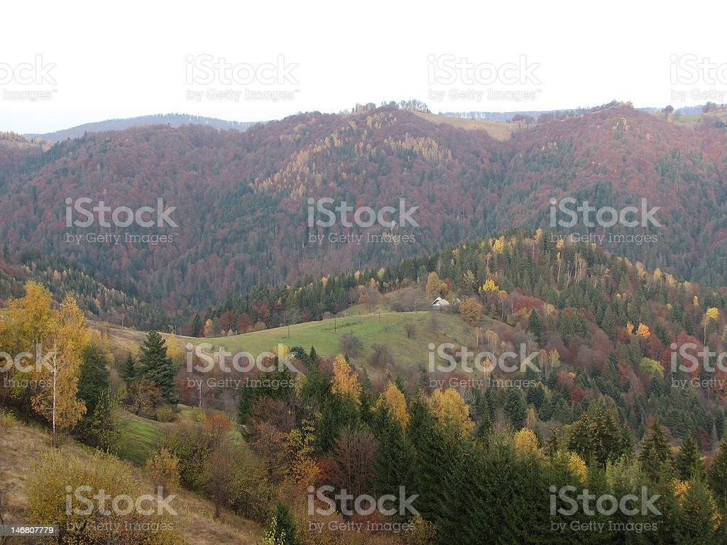 Autumnal landscape. royalty-free stock photo