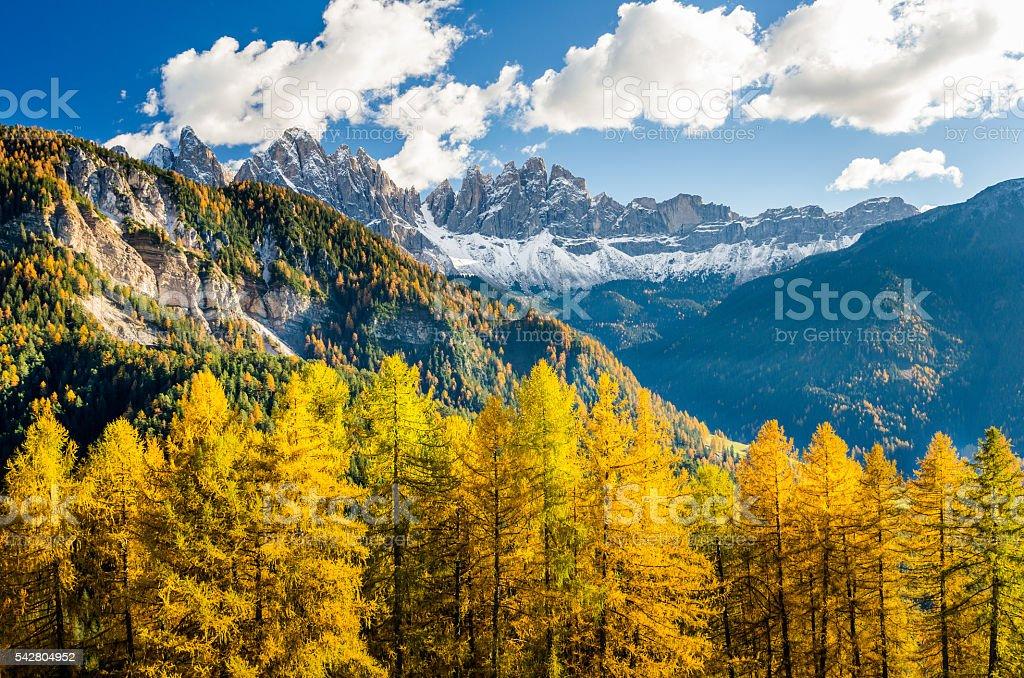 Autumnal Mountain Landscape stock photo