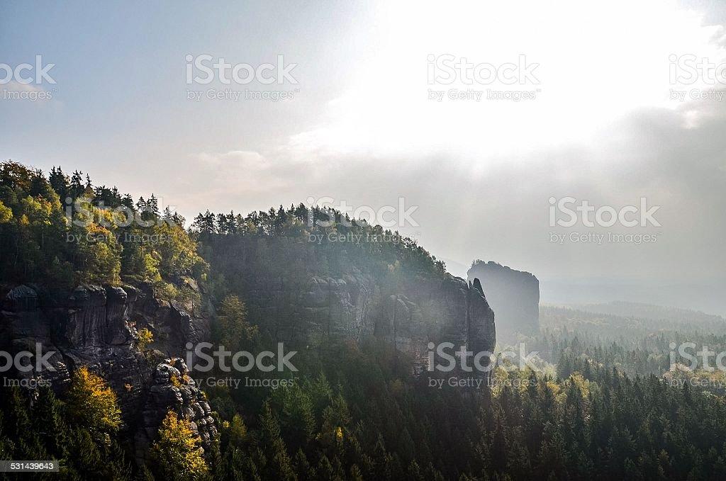 Autumnal Mountains stock photo