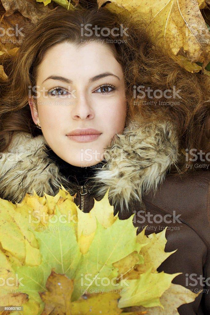 autumnal portait royalty-free stock photo
