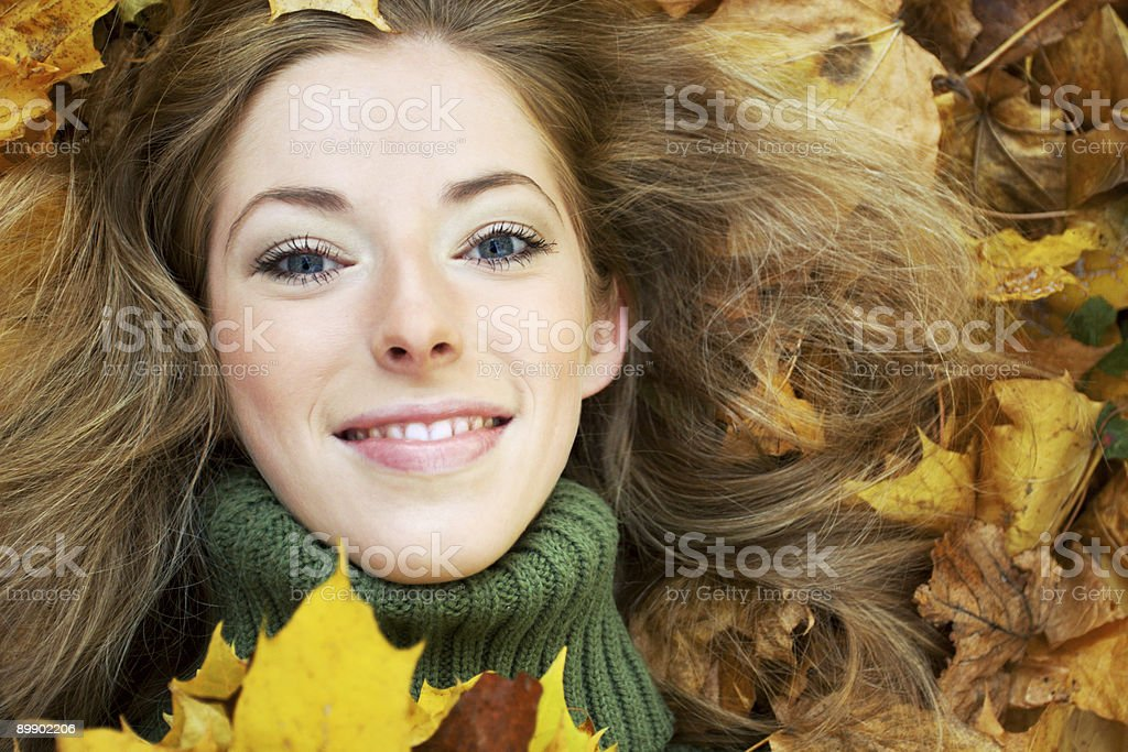 autumnal portrait royalty-free stock photo