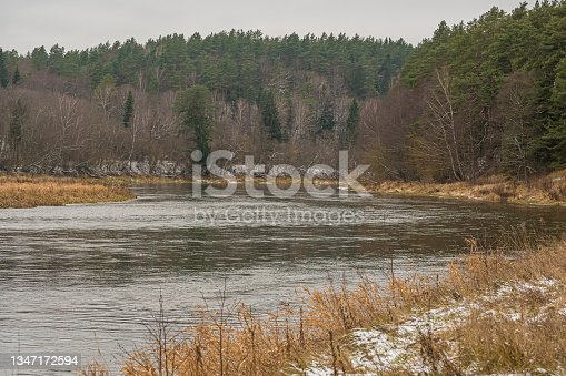 istock Autumnal view of Neris river 1347172594