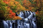 Akita prefecture Kitaakita city autumn leaves waterfall