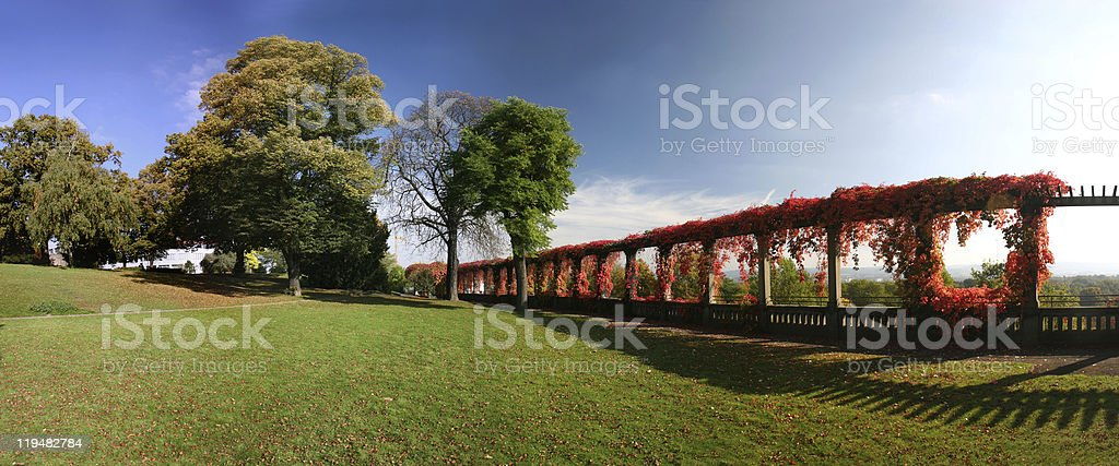 Autumnal Weinberg park in Kassel, Germany royalty-free stock photo