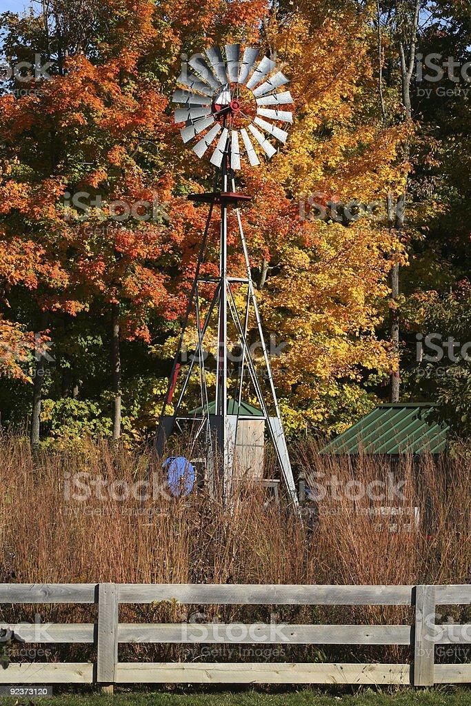 Autumn's best windmill royalty-free stock photo