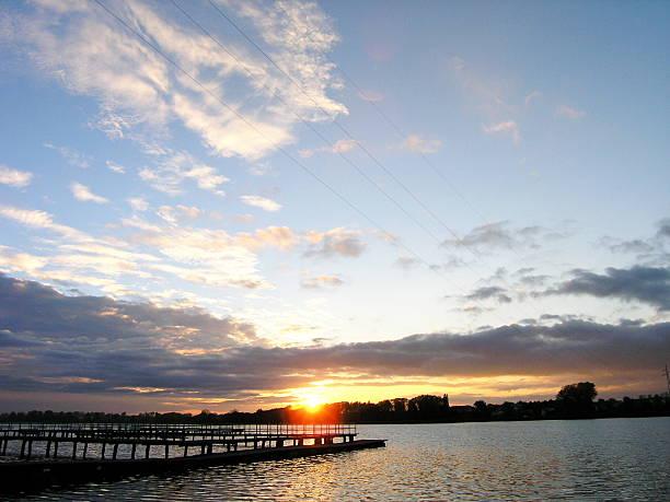 Autumns' sunset at the lake