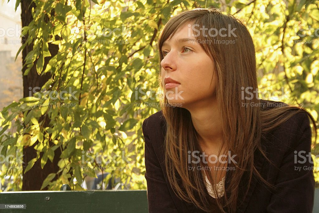 Autumn's thoughts royalty-free stock photo
