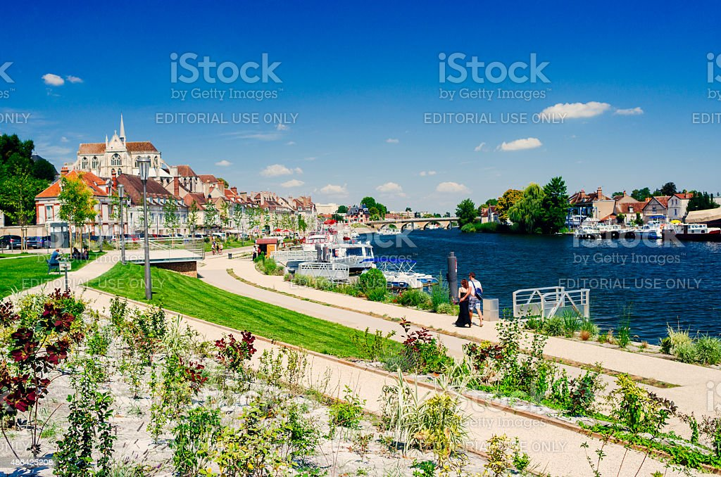 Auxerre, France stock photo