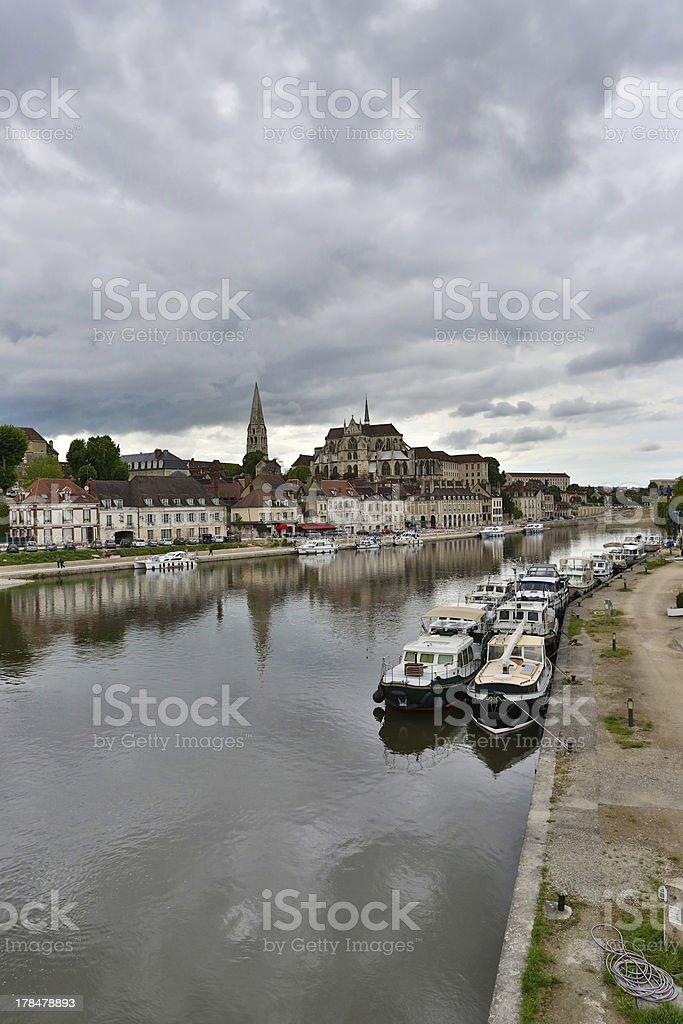 Auxerre stock photo