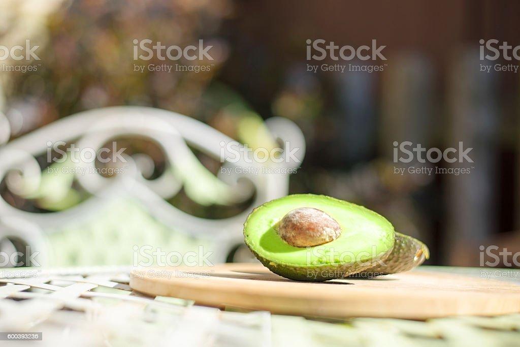 avacado, garden, table stock photo