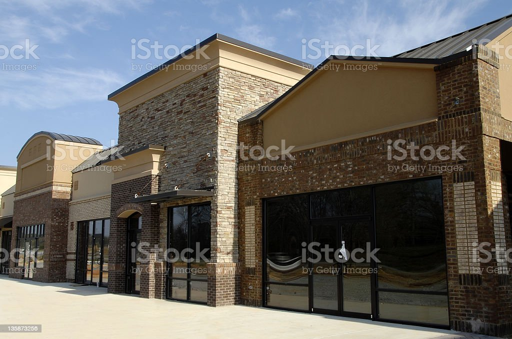 Available Commercial Space stock photo