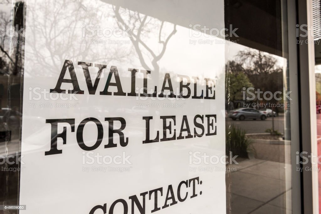 Available for lease stock photo