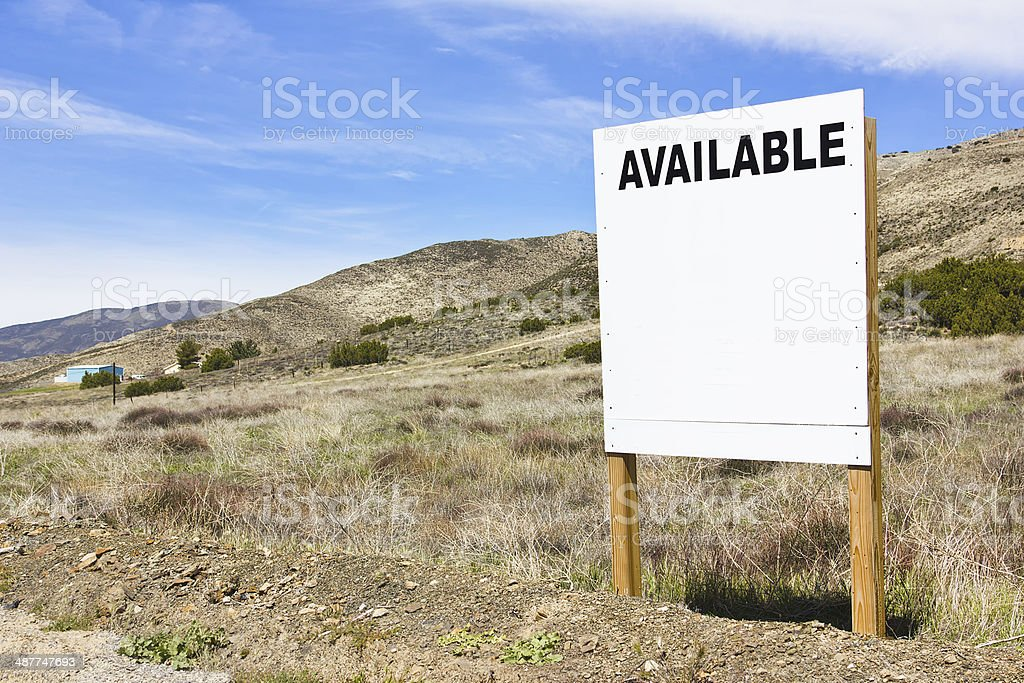 Available Sign stock photo
