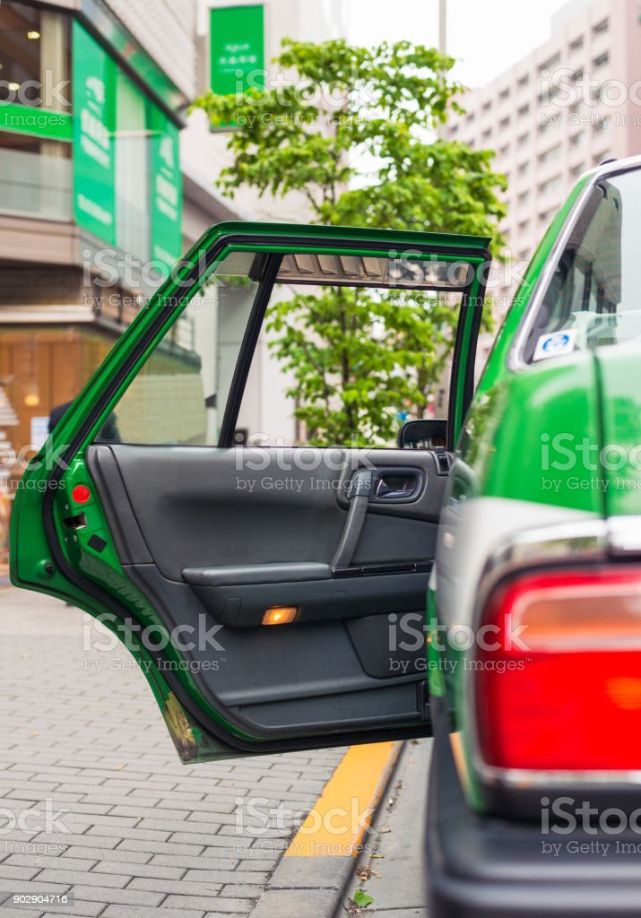 Available taxi in Tokyo, Japan stock photo