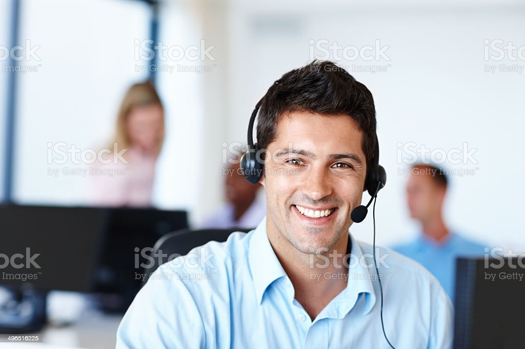 Available to take your call stock photo