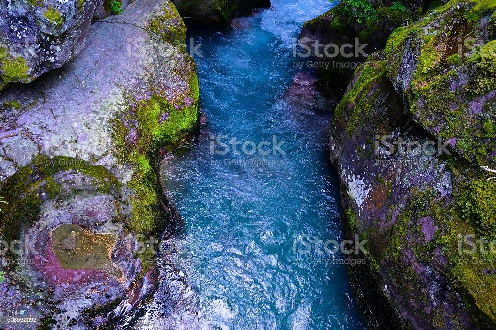 Avalanche Creek stock photo