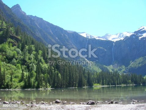 1131408581istockphoto Avalanche Lake 2 waterfalls 89942263