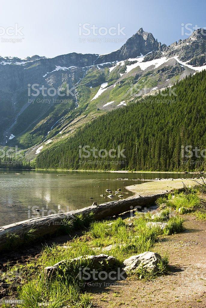 Avalanche Lake royalty-free stock photo