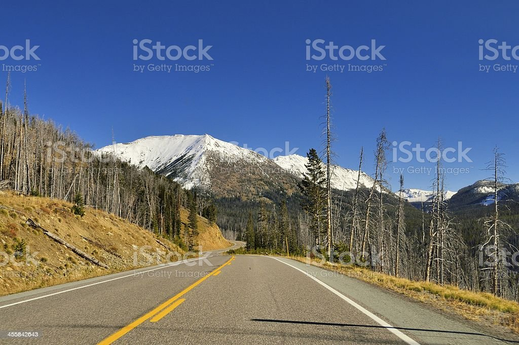 Avalanche Peak In Yellowstone stock photo