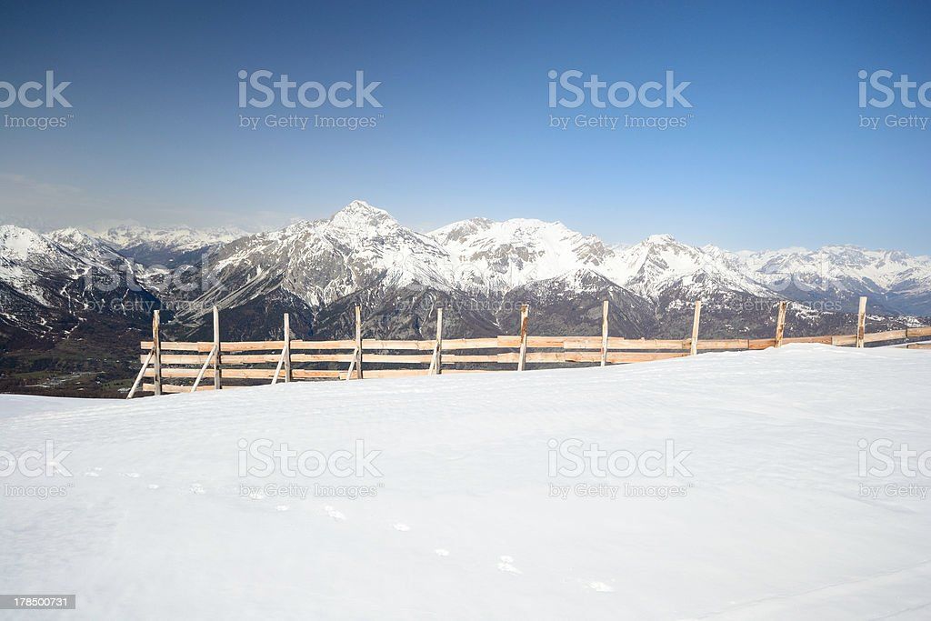 Avalanche protection in the Alps stock photo