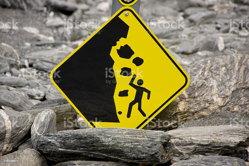 Avalanche Warning Sign royalty-free stock photo