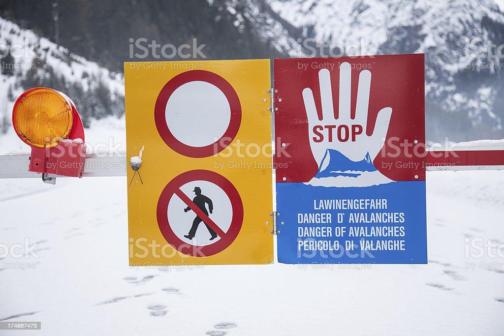 Avalanches royalty-free stock photo