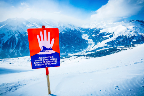 Avalanches warning sign