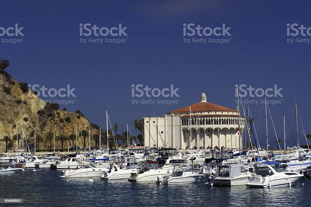 Avalon Harbor royalty free stockfoto
