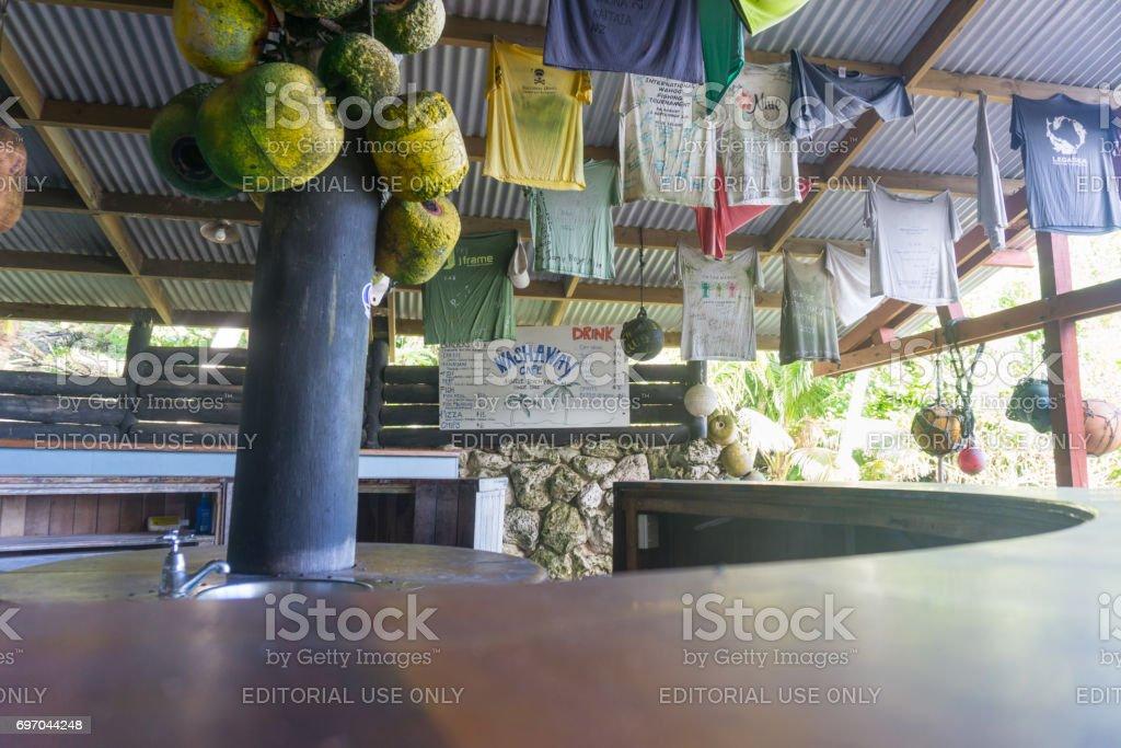 Avatele Bay Niue stock photo