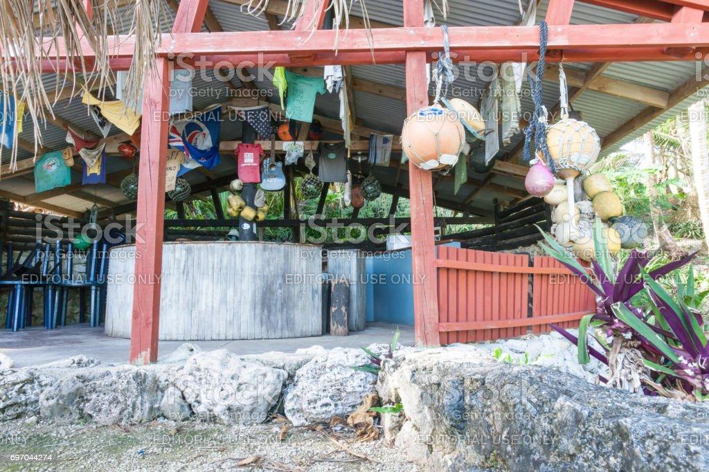 Avatele Bay Niue Washaway Cafe stock photo